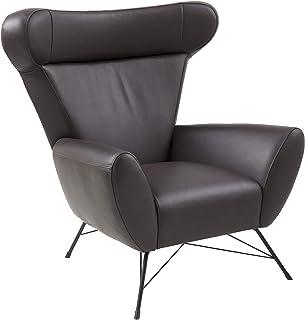 comprar comparacion Amazon Brand - Movian Galga - Silla relax, 90 x 105 x 98 cm (largo x ancho x alto), piel sintética marrón oscuro