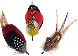 Feather Mounts for Hats (Millinery Feathers) - Pack of 8