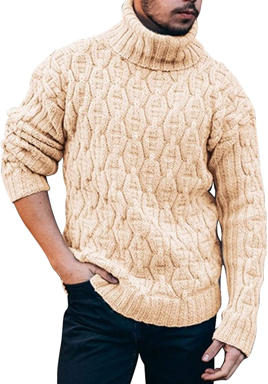 Mens Sweater Now free shipping Turtleneck Low price Thick Warm Neck Pullover C High Sweaters