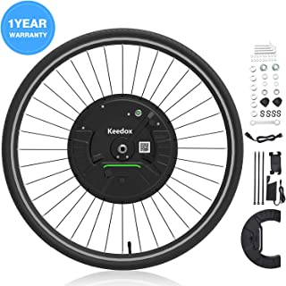 iMortor 3.0 Wireless Electric Bike Front Wheel Conversion Kits 36V 350W Motor & Removable Lithium Battery for Android &iOS,All Bluetooth Versions, 26