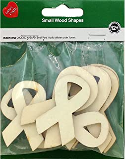 New Image Group Assorted Wood Shapes-Ribbons (8/pkg)