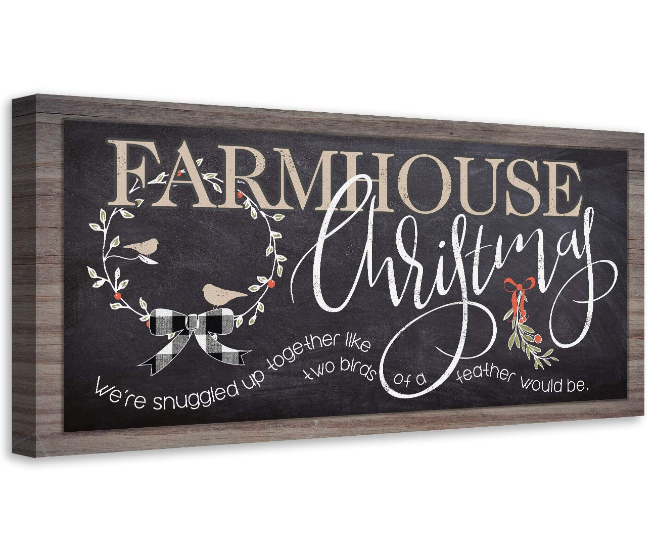 Farmhouse Christmas Not Printed on Makes Wood - security Unframed Print Dealing full price reduction