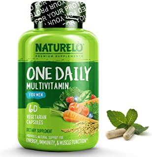 NATURELO One Daily Multivitamin for Men - with Whole Food Vitamins & Organic Extracts - Natural...