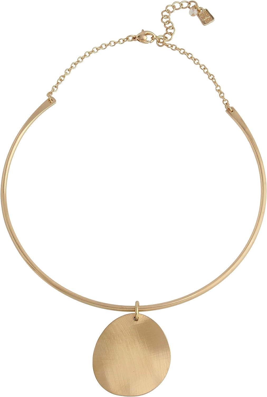 Robert Lee Morris Soho Disc Pendant Collar Necklace
