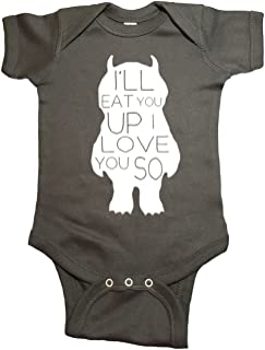 Where The Wild Things are Baby One Piece Love You So Bodysuit