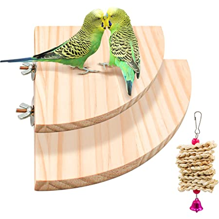 5pcs Bird Perch Platform Toy,bird perches for cockatiels,cork perches for birds,Natural Wooden Hamster Parrot Playground Grinding Exercise Toy,Cage Accessories for Budgies Parakeet Gerbil Rat