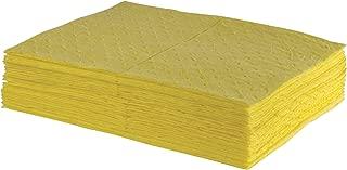 ESP 2MBYPB Polypropylene Medium Weight Meltblown Absorbent Sonic Bonded HazMat Pad, 20 Gallons Oil and 13 Gallons Water Absorbency, 18