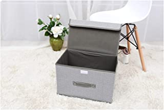 Folding Non-Woven Fabric Storage Box Home Supplies Clothing Underwear Socks and Kids Toys Storage Organizer Cosmetics Bins,M,2