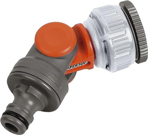 """GARDENA: Grifo giratorio para grifo de 26,5 mm (G 3/4 """") y 33,3 mm (G 1""""), giratorio y ajustable, empaquetado (2999-20)"""