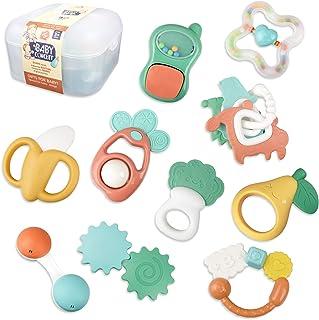 العاب خشخشة للاطفال - 12 قطعة من العاب الاطفال من سن 6 الى 12 شهرًا، العاب تعليمية مبكرة تجذب اطفالك، العاب عضاضة للرضع من...