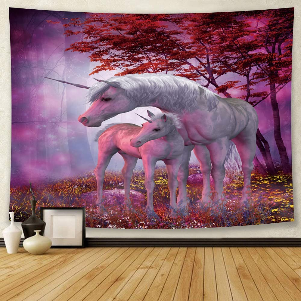 Jhdstore Unicorn Tapestry Wall Max 51% Sales of SALE items from new works OFF Hanging Forest for Magic Bedroom