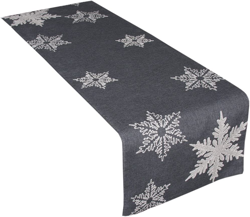 Xia Home Fashions XD17141 Christma Embroidered Today's only Snowflake Glisten sale