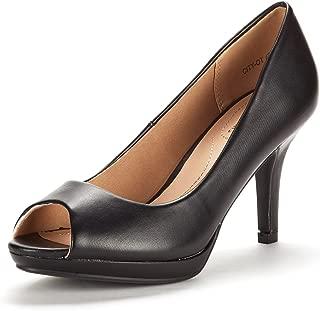 fioni peep toe heels