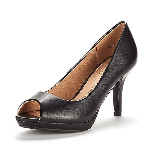 200ff0aa8dc DREAM PAIRS Women s City OT Fashion Stilettos Peep Toe Pumps Heels Shoes