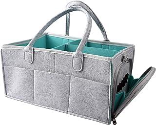 حقيبة تنظيم لوازم الطفل من شركة غولدوت، صندوق تخزين مع حزام كتف قابل للتعديل وسلة حامل محمولة لتغيير الطاولة والسيارة