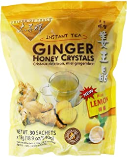 PRINCE OF PEACE Ginger Honey Crystals withlemon 30 Bag, 0.02 Pound (4-Pack)