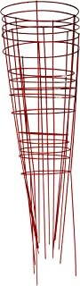 Glamos 745095 14-Inch x 42-Inch Heavy Duty Metal Tomato Cage - 5 Pack Red