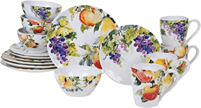 Certified International Ambrosia 16 Piece Dinnerware Set, Service for 4, Multicolored