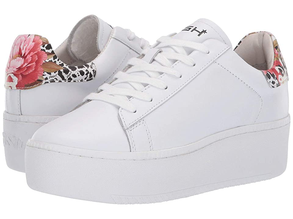 ASH Cult (Nappa Calf White/Big Flower Pattern) Women