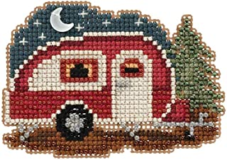 Happy Camper Beaded Counted Cross Stitch Ornament Kit Mill Hill 2017 Autumn Harvest MH181721