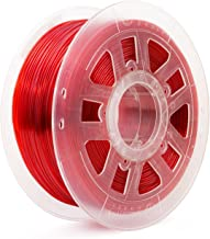 Gizmo Dorks 3mm (2.85mm) Flexible Filament (TPU), 1 kg for 3D Printers, Red