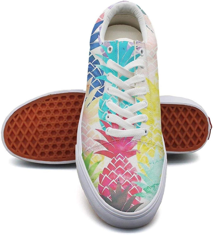 KSOWE3KD Woman Mens' Low Cross Work shoes Hawaiian Pineapple Pattern Tropical Watercolor Designer Unisex Sports shoes