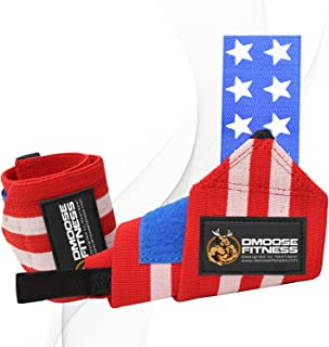 DMoose Fitness Wrist Wraps for Weightlifting, Powerlifting, Barbell Strength Training,..