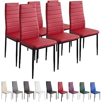 Set di 4 sedie per sala da pranzo in similpelle piedi in metallo colore: blu 41 x 45 x 98 cm