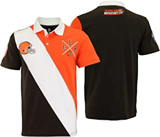 Klew NHL Cleveland Browns Rugby Polo Short Sleeve Shirt Men/'s New
