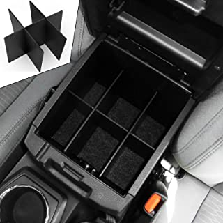 EEEKit Center Console Dividers, Center Console Organizer for Toyota Tacoma 2016 2017 2018 2019, Black