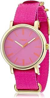 Timex Women's T2P364 Pink Nylon Watch