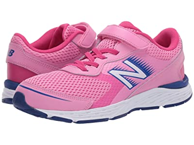 New Balance Kids 680v6 Bungee (Little Kid/Big Kid) (Candy Pink/Exhuberant Pink) Girls Shoes
