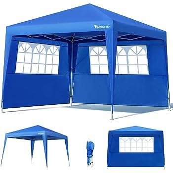 Hikole Gazebo 3x3 Pieghevole Gazebo Esterno Impermeabile Tenda da Gazebo Giardino con 4 Pareti Laterali