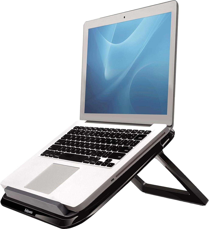 Fellowes I-Spire Series - Soporte Elevador Ajustable para portátil, Ajustable a 7 ángulos, Color Negro