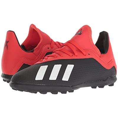 adidas Kids X 18.3 TF Soccer (Little Kid/Big Kid) (Black/Off-White/Active Red) Kids Shoes