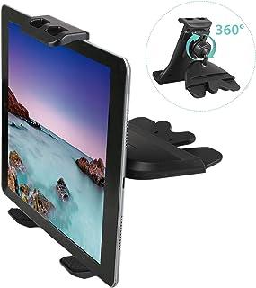 Linkstyle CD Schlitz Auto Halterung Universal Tablet Phone Halterung Tablet CD Einschub KFZ Handy Halterung 360 Degree Rotation kompatibel mit with Samsung Galaxy/iPad/Phones (Geräte 4 10,5 Zoll)