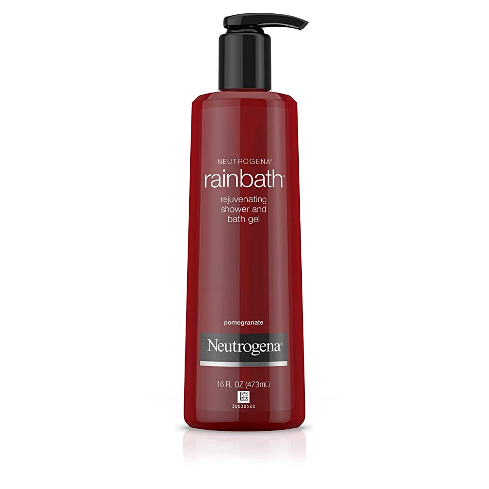 Neutrogena Rainbath Rejuvenating and Cleansing Shower and Bath Gel, Moisturizing Body Wash and Shaving Gel with Clean Rinsing Lather, Pomegranate Scent, 16 fl. oz