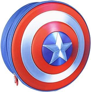 Mochila Infantil Capitan America de The Avengers en 3D - Licencia Oficial Marvel Studios, Azul, 310X310X100mm