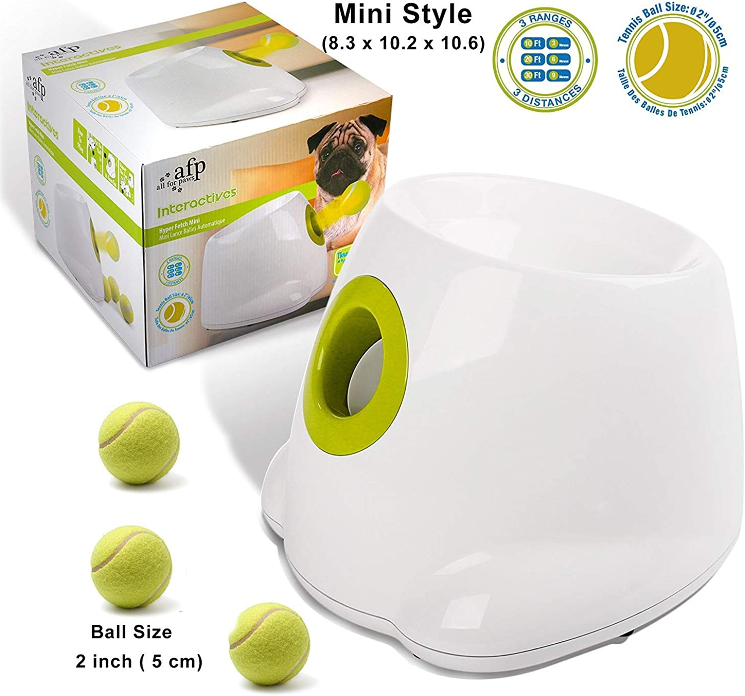 Evin All PAWS Hyperfetch Ultimate Throw Toys (Mini Style),Includes 3 tennis balls