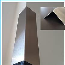 Edelstahl Kantenschutz 2500mm 35x15 mm K240 geschliffen V2A 0,8mm stark Kantenschutzblech Kantenschutz,kreativ bauen 250cm Eckschiene L-Profil Schenkel 3,5x1,5cm