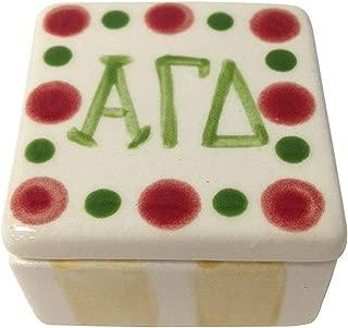 Desert Cactus Alpha Gamma Delta Sorority Square Dot Pin Box Made of Ceramic Material Letter Alpha Gam