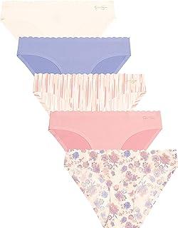 womens Brushed Microfiber Bikini Panties Multi Pack