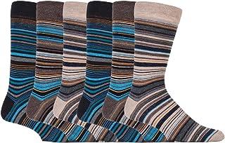 6 pares hombre calcetines vestir rayas modernos algodon fantasia de verano