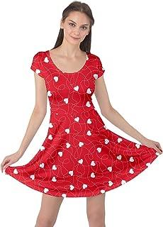 Women's Fashion Happy Valentines Day Love Cupid Pattern Short Sleeve Dress, XS-5XL