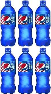 Pepsi blue 20 fl oz, 6 bottles, total 120 fl oz