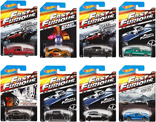 Hot Wheels Fast and Furious Complete Set (set of 8) 1 64 Diecast Collection by Hot Wheels