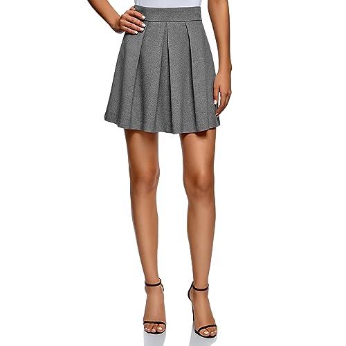 261713de0 oodji Ultra Women's Flared Box Pleat Skirt