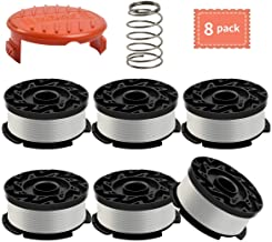 Weed Eater Spool Compatible with Black+Decker AF-100,30 Feet/0.065 Inch Line String Trimmer Generic Autofeed System Replacement Spool (6 Spool,1 Cap,1 Spring)