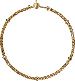 "Back to Basics II 18"" Braided Gold Chain Necklace"