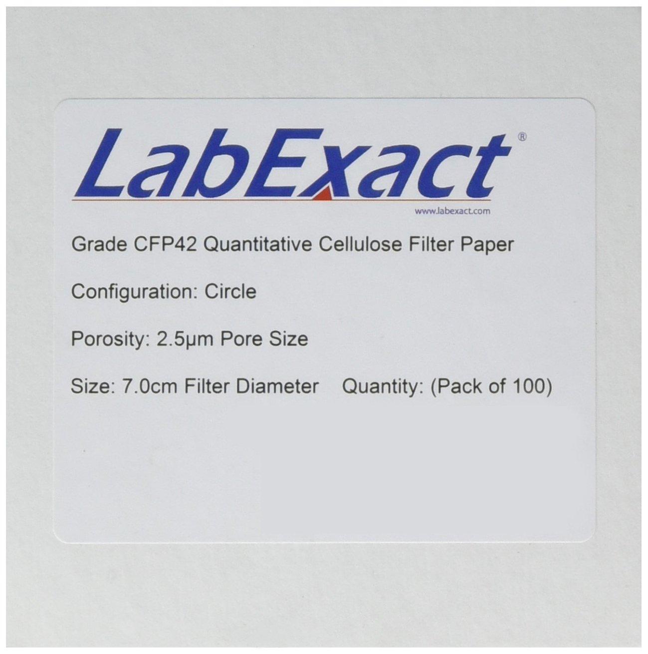 LabExact 1200081 Grade CFP42 Filter Quantitative Paper Albuquerque Mall Cellulose Animer and price revision
